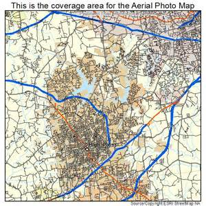 aerial photography map of high point nc carolina