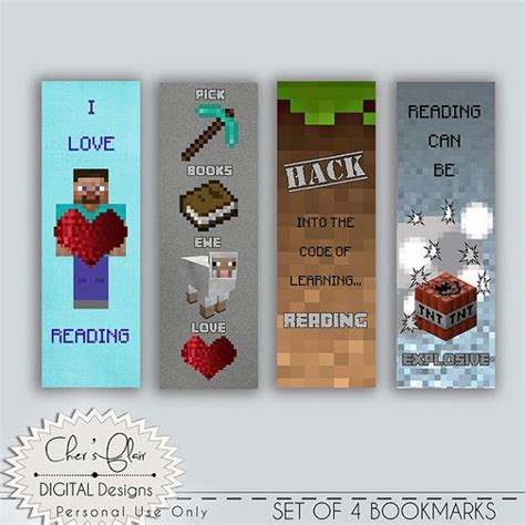 printable bookmarks minecraft top 25 ideas about minecraft party ideas on pinterest