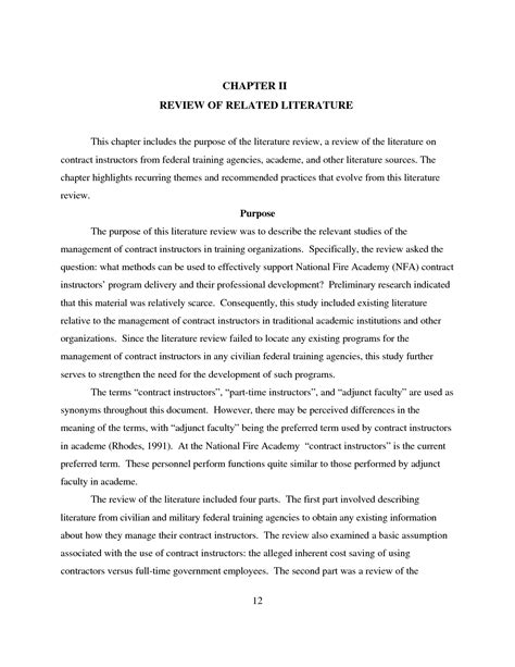 Thesis Chapter 2 Review Of Related Literature by Chapter 2 Review Of Related Literature Parts