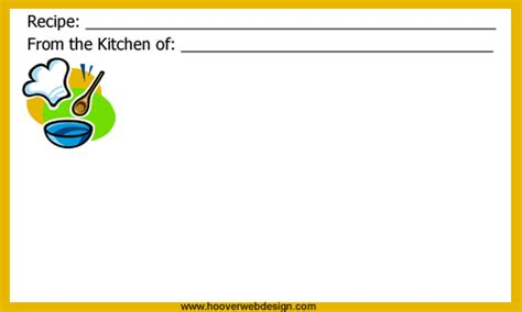 recipes card template for mac printable chef themed recipe cards templates