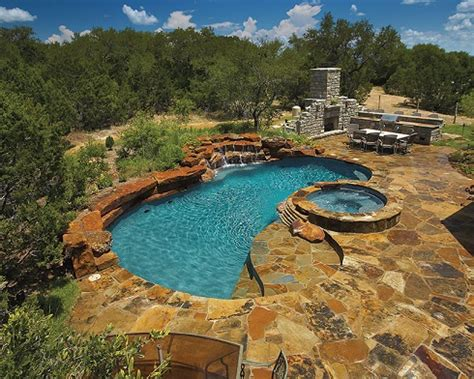 flagstone decoration for long swimming pool for small yard 8 types of natural stone decking luxury pools