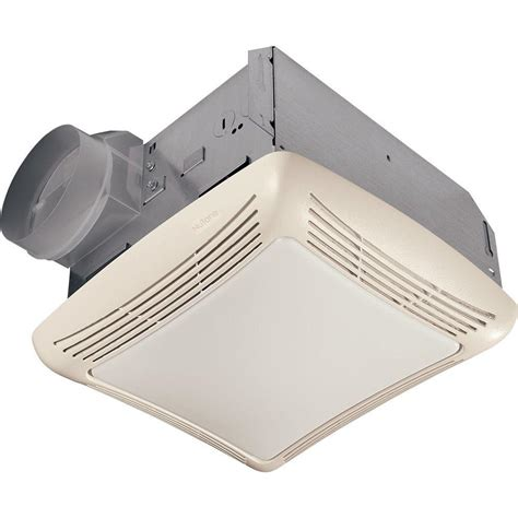 bathroom exhaust fan with light home depot nutone 50 cfm ceiling bathroom exhaust fan with light