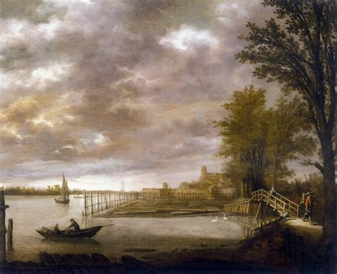 Landscape Timber Yard Landscape With A Timber Yard Near Dordrecht By Cuyp Aelbert