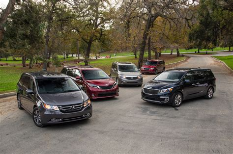 nissan family van the big test 2015 minivans chrysler honda kia nissan