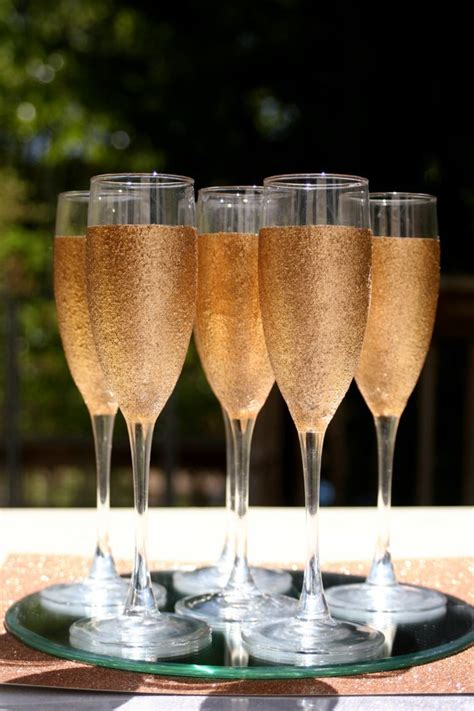 Kitchen Table Decorating Ideas Pictures diy glitter champagne bottle and flutes handspire