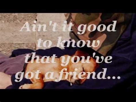 you've got a friend (lyrics) the brand new heavies youtube