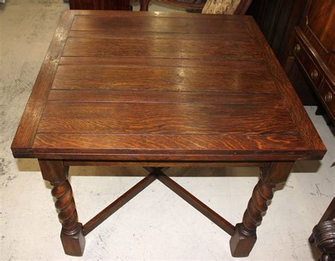 Antique Drop Leaf Table Antique Oak Draw Drop Leaf Dining Table With Barley Twist Legs 1900 1950
