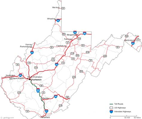 west virginia map cities map of west virginia