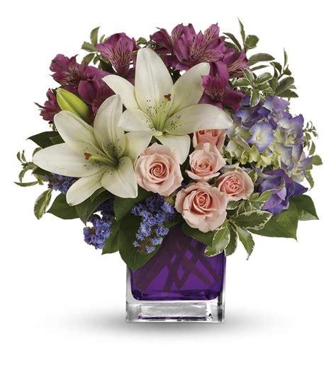 Unique Flower Vase Teleflora S Garden Romance Tev20 1a 47 66