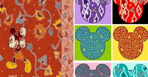 Topi Cap Anak Motif Mickey motif quot mickey mouse quot hadir dalam batik keris berita