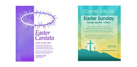 religious flyer template church art