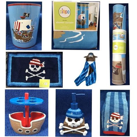 Pirate Bathroom Accessories Pirate Ship Set Bathroom Decor Crossbones Skulls Shower Curtain Accessories Pirate