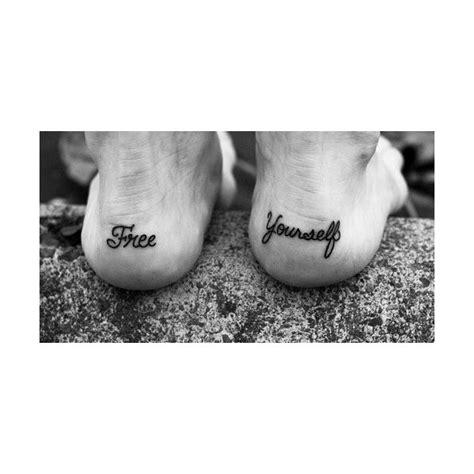 free yourself tattoo free yourself back heel tattoos