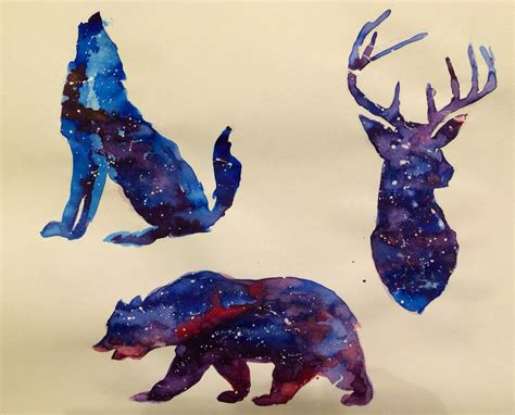 watercolor tattoos animals watercolor galaxy animals by gordon lipari www