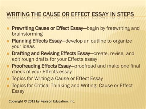Topics For Cause And Effect Essay by Chapter 13