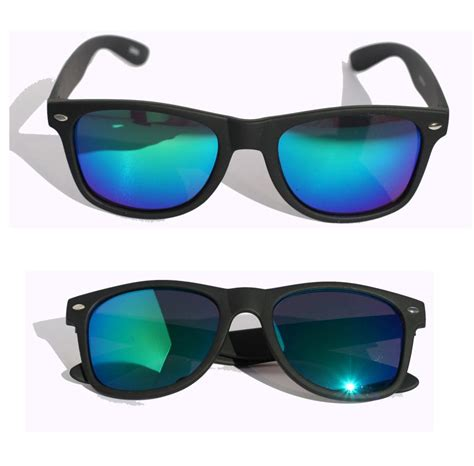 Mirror Sunglasses matte soft rubberized sunglasses with mirror lens 80 s