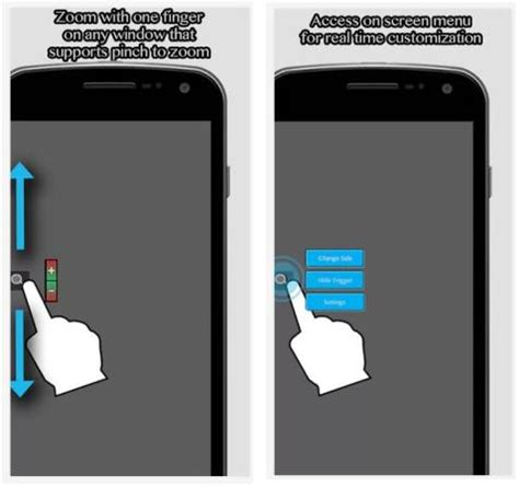 pinch zoom layout in android you are just one hand free and want to zoom a webpage use
