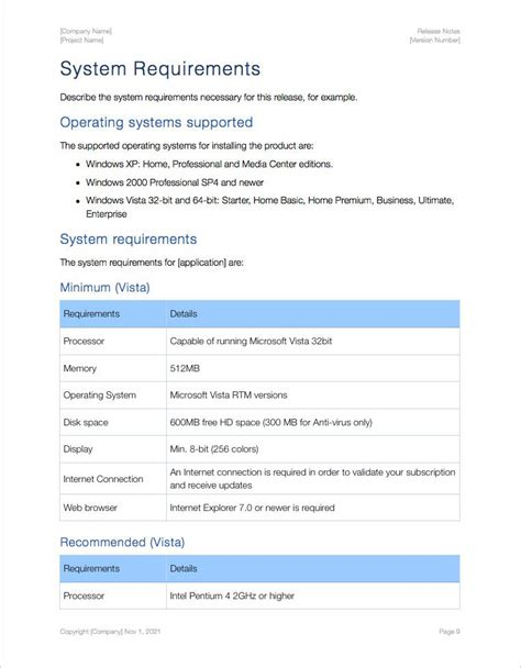 release notes template apple iwork pages numbers