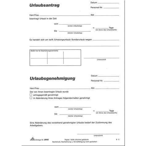 Muster Formular Word Urlaubsantragblock Rnk 2915 Din A5 Tito B 252 Robedarf