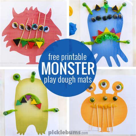 printable animal playdough mats monster play dough mats free printable play dough mats