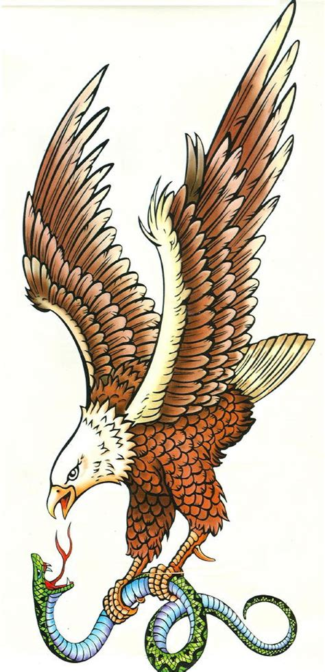 eagle n snake tattoo design 2 tattoos book 65 000