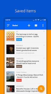 basket bookmark organizing and read later app android
