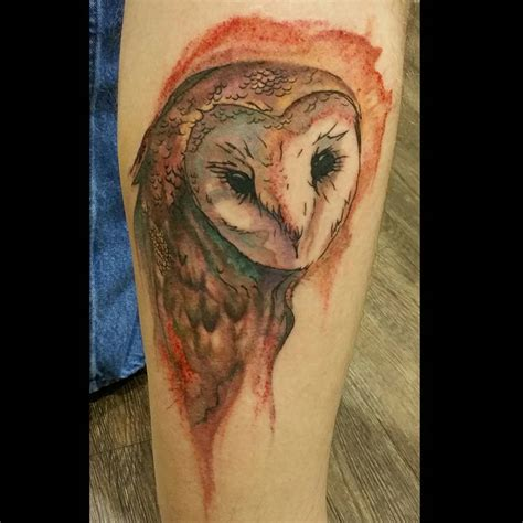 watercolor owl tattoo watercolor owl venice designs