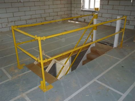 Safety Handrails Construction stair safety systems working at height fall prevention construction mk engineering services