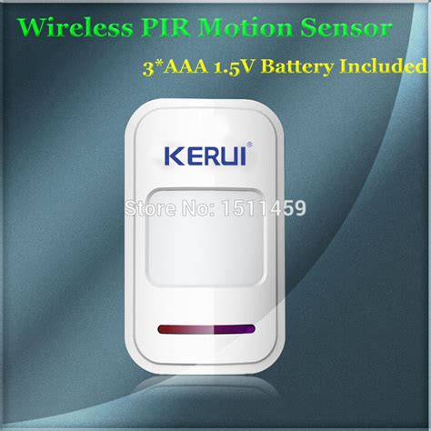 Sensor Gerak Motion Sensor Wireless 433 Mhz Berkualitas new 433mhz sensor wireless intelligent pir motion detector for gsm pstn home security burglar
