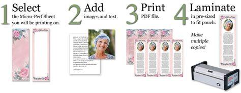 free memorial bookmark template make custom memorial bookmarks lamcraft inc