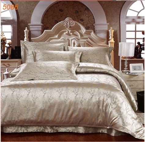 4pcs silk bed clothes king size silk bedding set satin