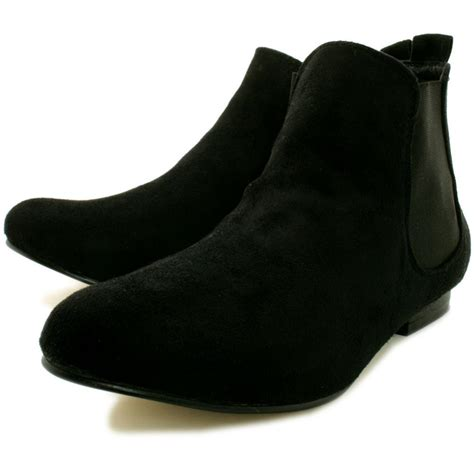 buy saturn flat chelsea ankle boots black suede style