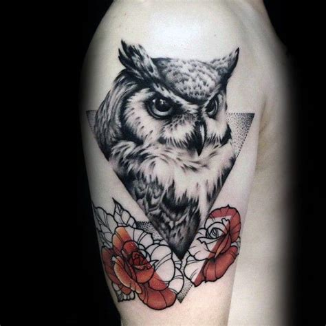 owl and rose tattoo meaning 25 best ideas about geometric owl on