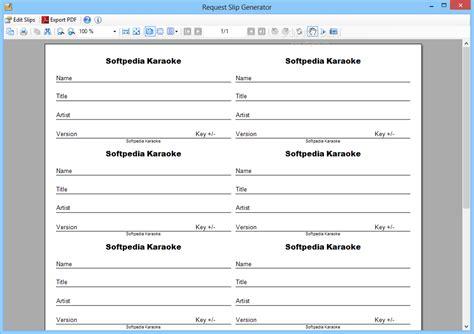 Download Request Slip Generator 2 0 Dj Song Request Template