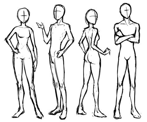tutorial menggambar oc manga basic poses standing and sitting letraset blog