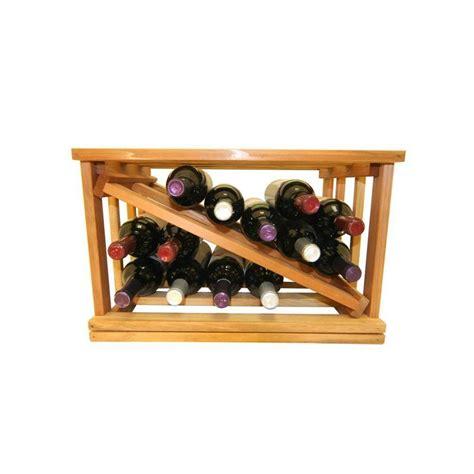 mini stack series bin storage light stain wine rack 11 15