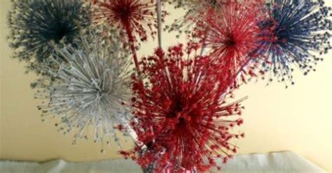 spray paint fireworks allium fireworks centerpiece spray dried allium or other