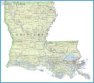 louisiana map travel map vacations travelsfinders