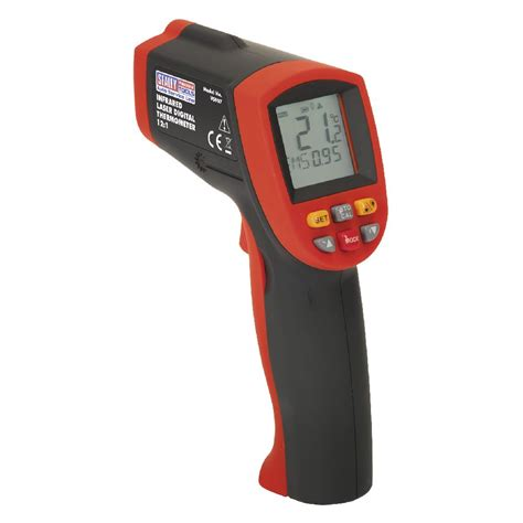 Thermometer Laser sealey infrared laser digital thermometer 12 1 infrared thermometer vs907 ebay