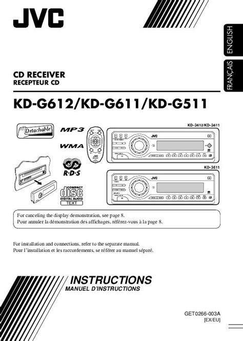 Notice JVC KD-G511 - autoradio Trouver une solution à un