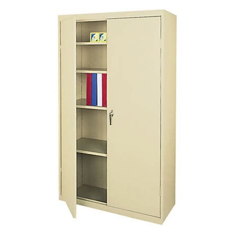 realspace 72 steel storage cabinet with 4 adjustable