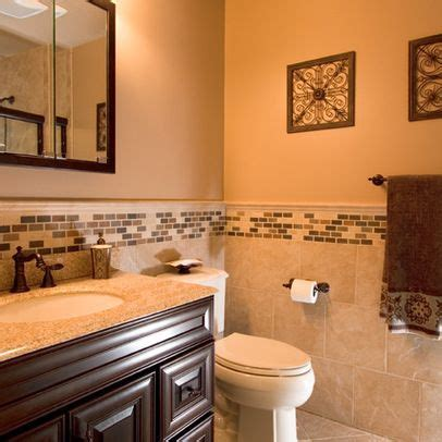 tile walls in bathroom guest bathroom house pinterest