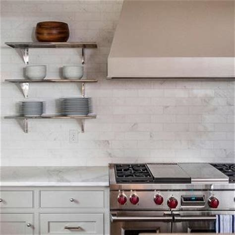 shelves flanking kitchen design ideas