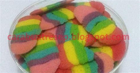 membuat donat rainbow cara membuat kue lidah kucing rainbow spesial keju renyah