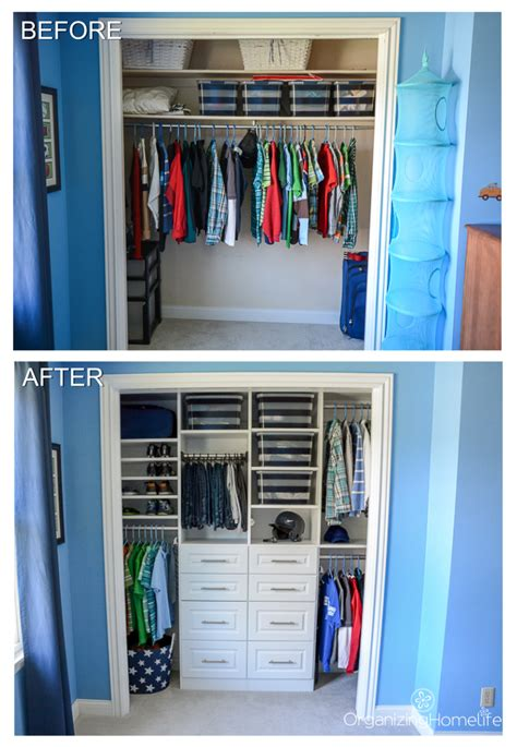 kids organization organized boy s room closet before and after organizing