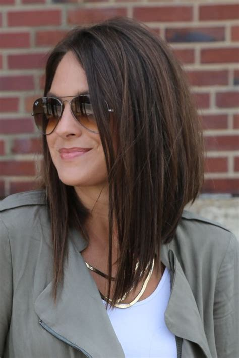 angled long hair long in front 25 best ideas about long bob haircuts on pinterest long