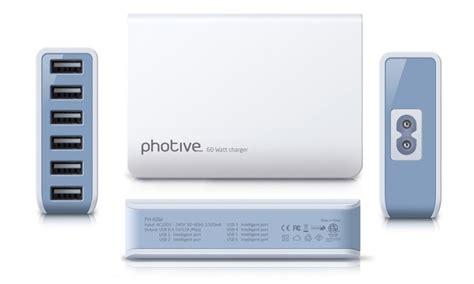 60 watt desk l up to 64 on photive 60w 6 port usb charger