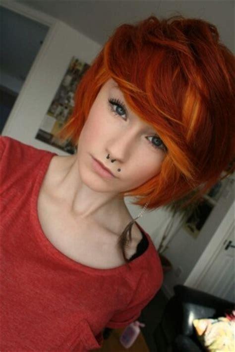 fabulous orange hairstyles pretty designs