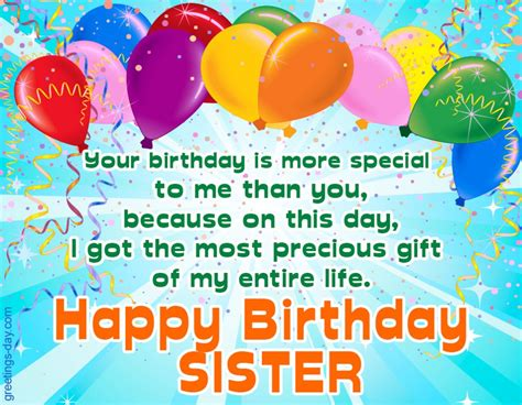 Happy Birthday Sister. Free Ecards, Pictures & GIFs.