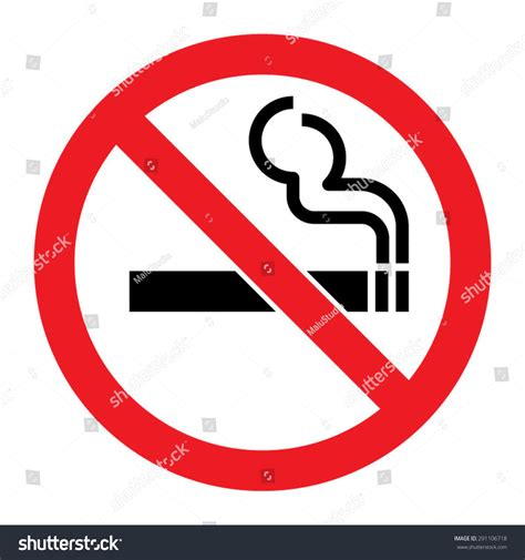 no smoking sign on mac startup no smoking sign stock vector 291106718 shutterstock